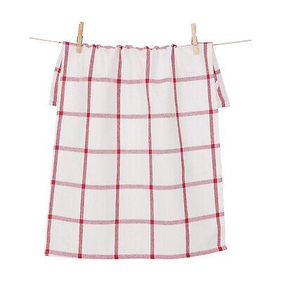 KAF Home Windowpane Oversized Kitchen Towel, 100% Cotton, Cherry