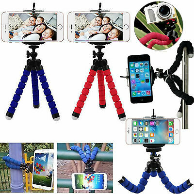 Mini Octopus Tripod For iPhone SE 2020 11 8 7 X Flexible Stand Mount Holder - UK