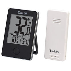 Table Top Digital Temperature Clock Display Wireless In Out Door Monitor Sensor