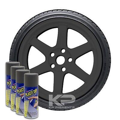 Plasti Dip Spray Aerosol Cans Wheel Rim Kit Gun Metal Grey 4 Pack 11oz