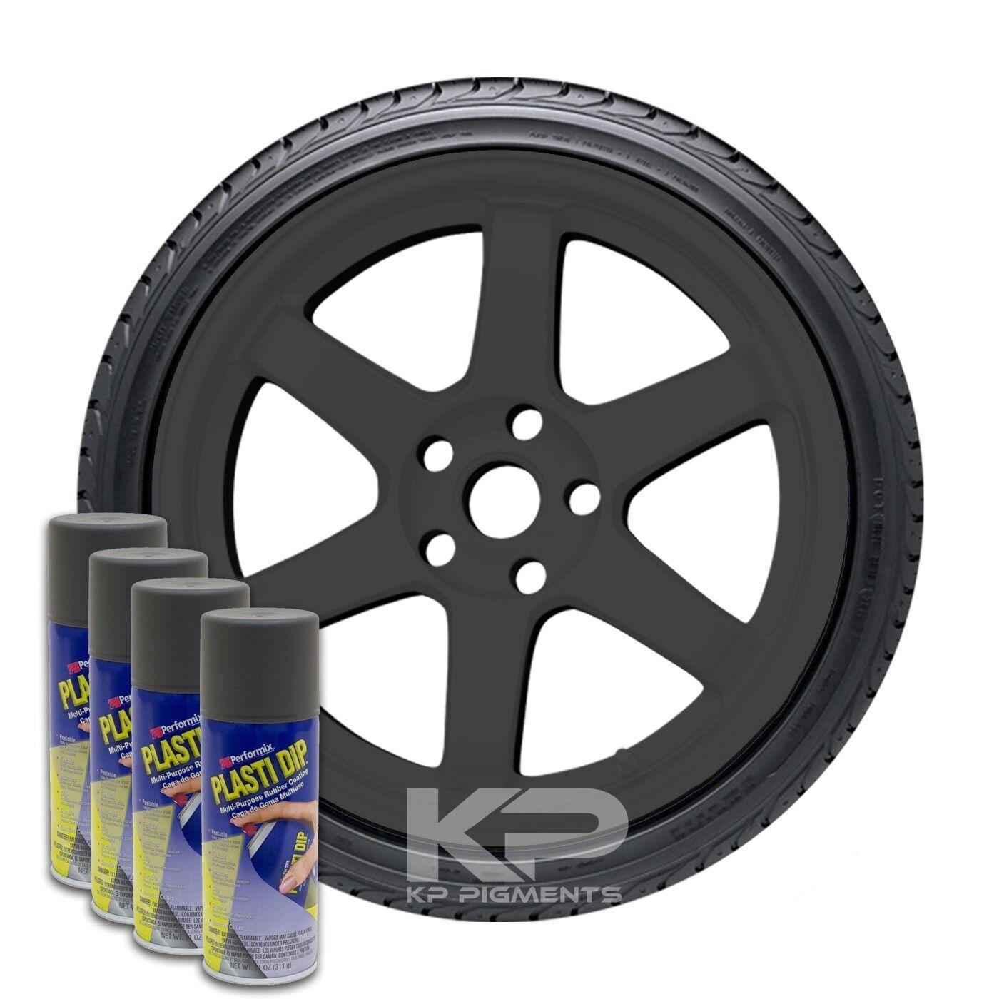 Plasti Dip Spray Aerosol Cans Wheel Rim Kit Gun Metal Grey 4 Pack 11oz - $35.99