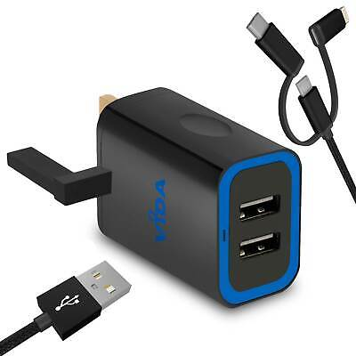 Super Fast 2 Port USB Wall Charger For Motorola G Turbo Edition G4 Play Plus 12W