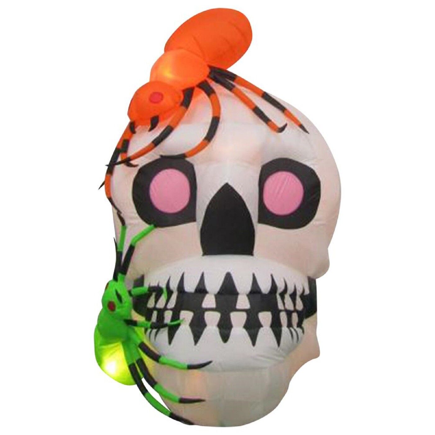 Halloween Inflatable Skull With Spiders By Gemmy