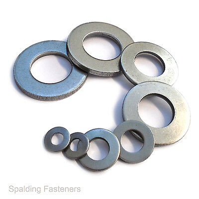 """Self Colour Imperial Table 3 Heavy Thick Flat Washers 1/4"""" To 1"""""""