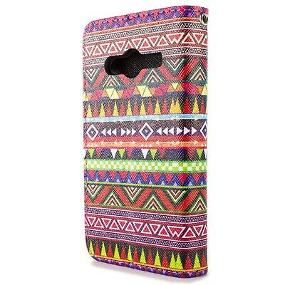 Wallet Case for Samsung Galaxy Ace NXT Card Folio Cover - Tribal Aztec Design for sale  Shipping to India