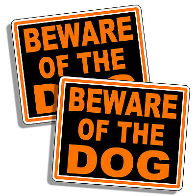 Beware of Dog Warning Sticker Caution Pet K9 Decal Animal Security Fence Wall