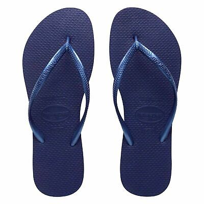 HAVAIANAS H. SLIM WOMEN RUBBER  BRAZIL NAVY BLUE MERINHO FLIP FLOPS ALL SIZES - Havaianas Womens Brazil