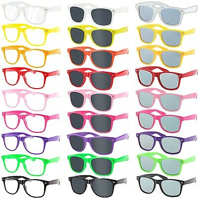 Nerd-Brille Horn-Brille Sonnen-Brille Nerd Streber Retro Sonnenbrillen