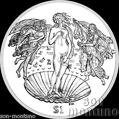 2010 BIRTH OF VENUS - CuNi $1 Dollar UNC Coin British Virgin Islands BOTTICELLI