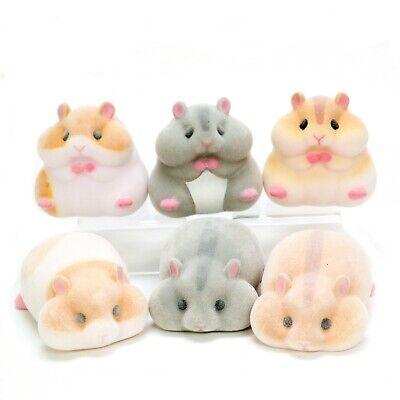 Japanese Blind Box White Brwn Hamster Sofubi Soft Vinyl Figure 1 Random Toy