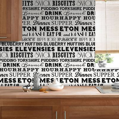 Superfresco Easy Paste the wall On The Menu Typography Black/White Wallpaper
