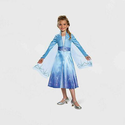 Disguise Toddler Girls Disney Frozen 2 Elsa Deluxe Halloween Costume 7-8