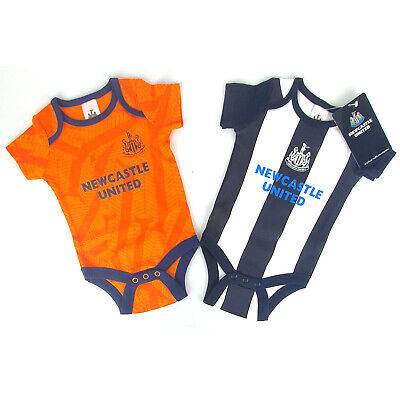 Official Newcastle United Football Home & Away Kit Twin Pack Bodysuit Baby Grows