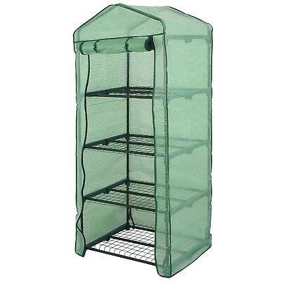 4 Tier Mini Portable Greenhouse Rack Stand Garden Green House for Outdoor -