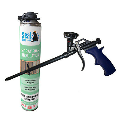 Seal Spray Closed Cell Insulating Foam Can Kit Wgun Foam Applicator 25 Bf