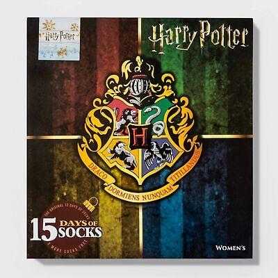 Women's Harry Potter Hogwarts Crest 15 Days of Socks Advent Calendar Gift