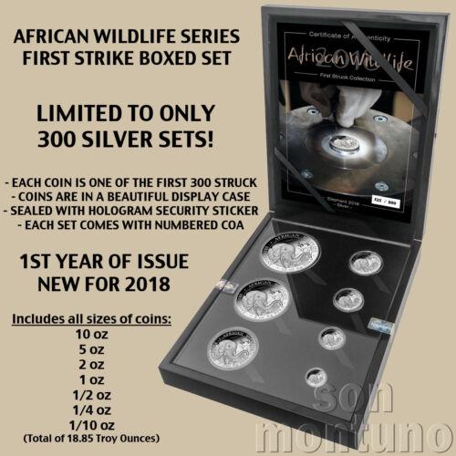 COA #3 - AFRICAN WILDLIFE - First Strike SILVER Coin Set 2018 Somalia Elephant