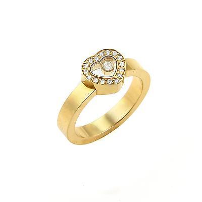 Chopard Happy Diamonds 18k Yellow Gold Heart Ring