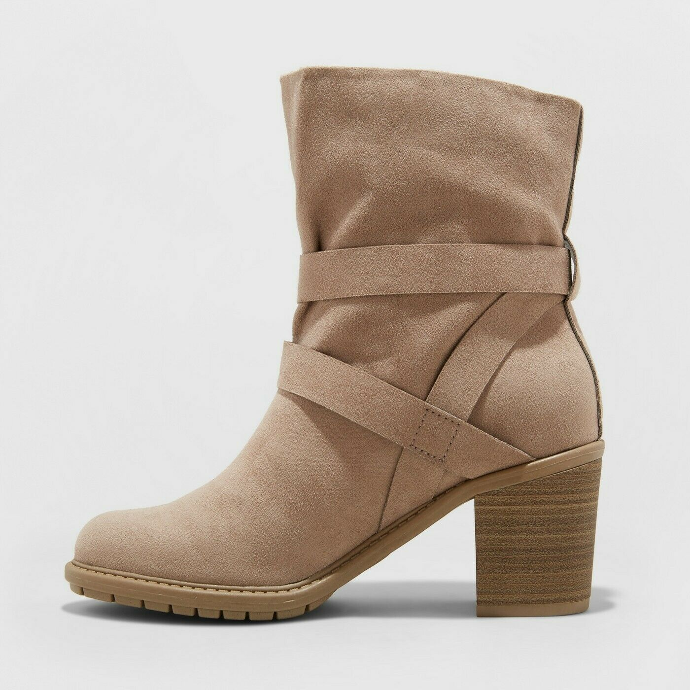 A New Day™ Cognac 10 NWT Womens Cora Lace-Up Wedge Booties