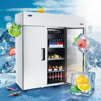 Atosa Mbf8003 3 Door Stainless Steel Reach-in Top Mount Commercial Refrigerator