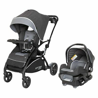 NEW Baby Trend Sit N' Stand 5-in-1 Shopper Stroller Carseat Travel System Gray,