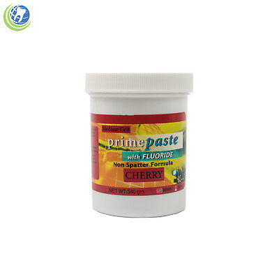 Dental Prophy Paste W Fluoride For Prophylaxis Medium Grit Cherry Flavor 340g
