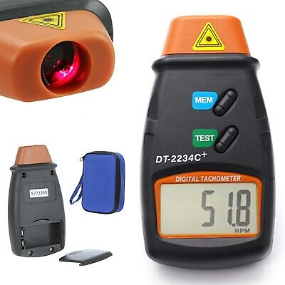 Digital Laser Tachometer Rpm Meter Non Contact Motor Speed Gauge Revolution Spin