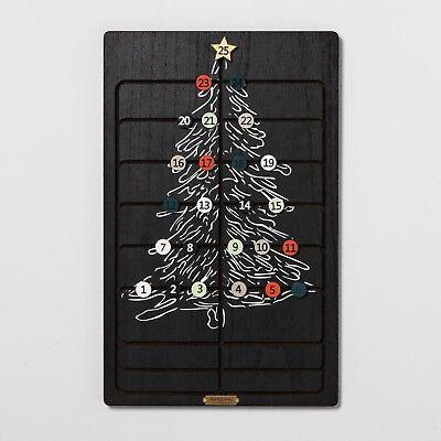 Hearth and Hand Magnolia Christmas Advent Calendar Black Wood - Beautiful