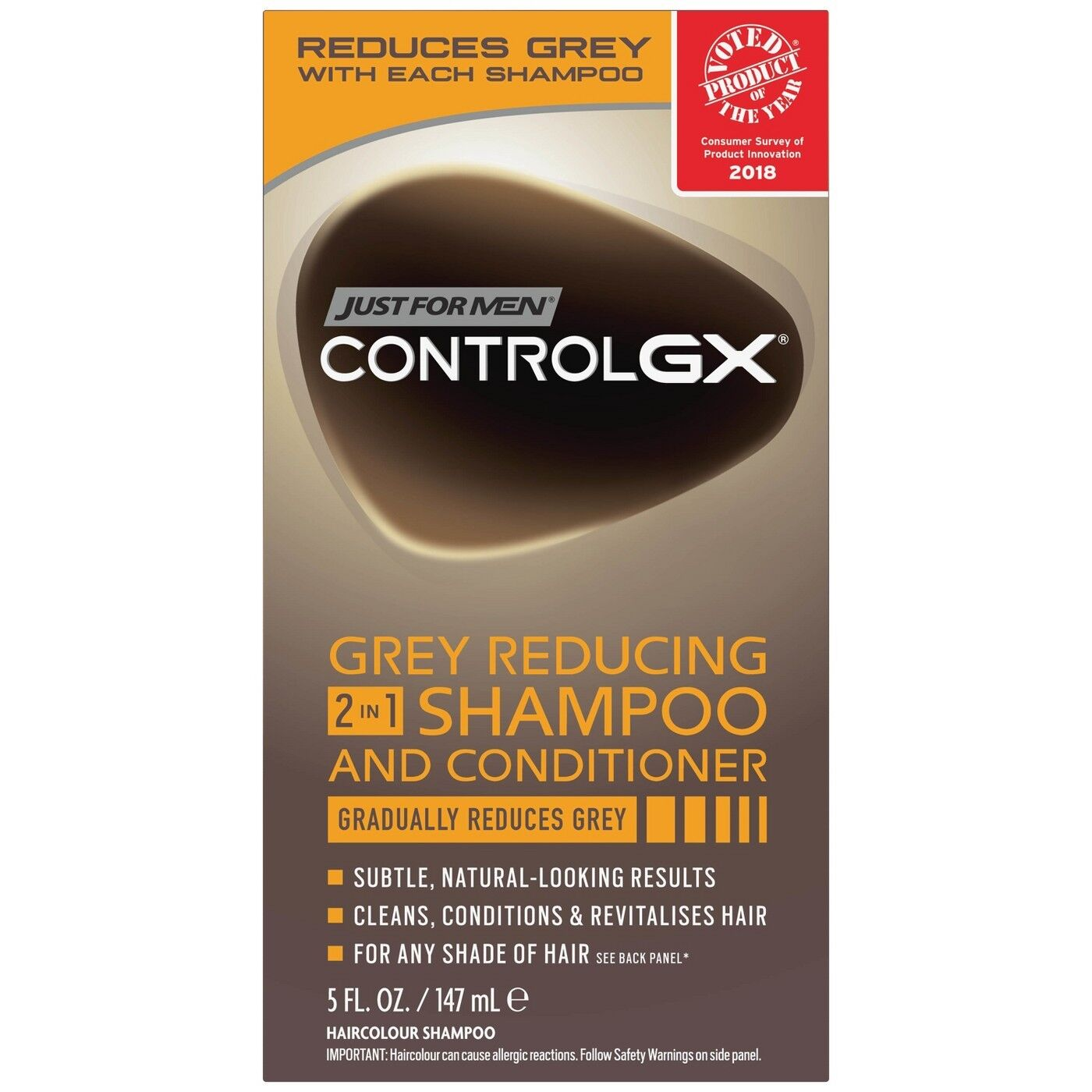 New Just For Men Control GX Grey Reducing 2 in 1 Shampoo and