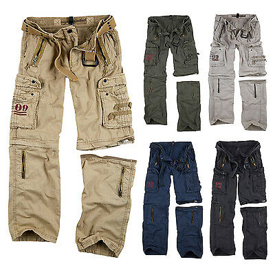 SURPLUS Raw Vintage Royal OUTBACK Trousers Cargo ZIP OFF Hose & Shorts in einem