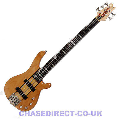 Shine Electric Bass Guitar 5 String SBT-705 NA Active Pickups 2 Band EQ Maple for sale  Manchester