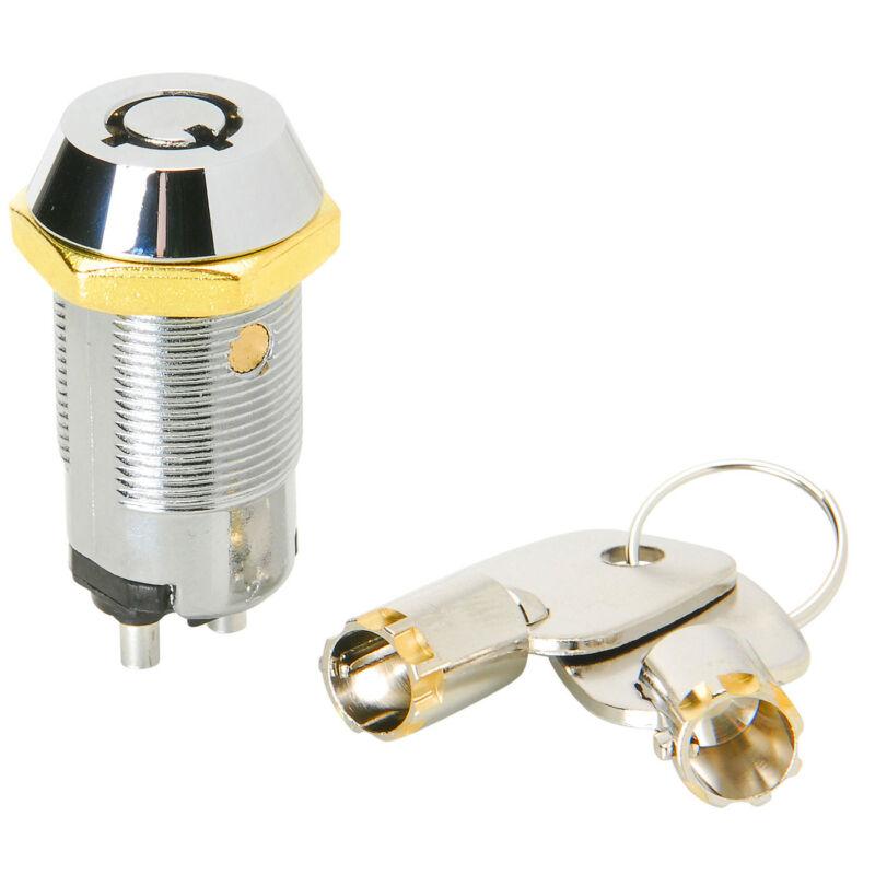 On/Off Key Switch with 2 Barrel Keys