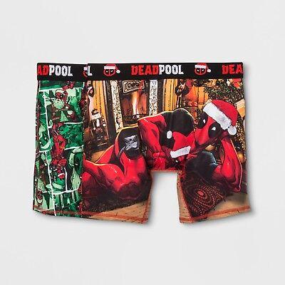 Deadpool Marvel Mens Boxer Briefs 2 Pack Shorts Boxers Sz Small 28-30 Christmas