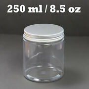 6 oz Clear Plastic Jars
