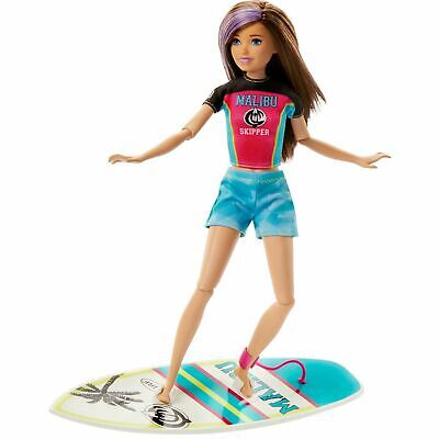 Barbie Surfing Skipper Doll and Sports Accessories Playset GHK36