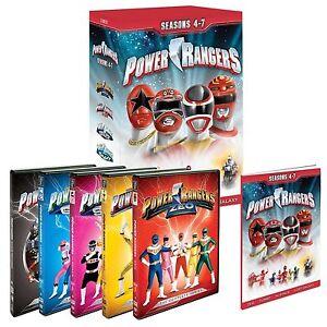 Mighty Morphin Power Rangers Complete Season Series 4, 5, 6 & 7 DVD Box Set