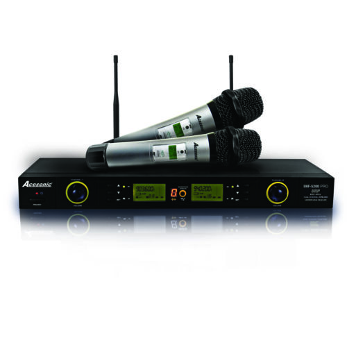Acesonic UHF 5200 PRO Digital Wireless Karaoke Microphone System 900MHz