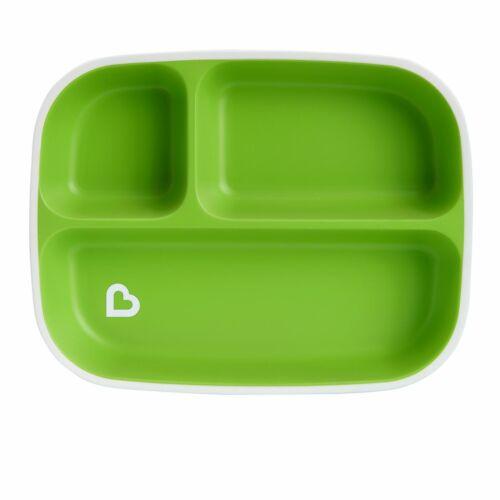 Munchkin Splash Divided Plate Green