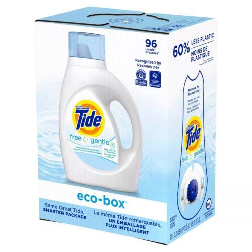 Tide Free & Gentle Liquid Laundry Detergent Eco-Box HE Compatible - 105 fl oz