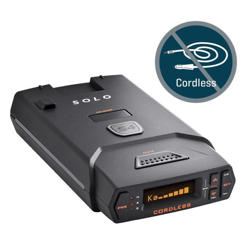 ESCORT Solo S4 Cordless Radar Laser Detector - 1 yr. Warranty