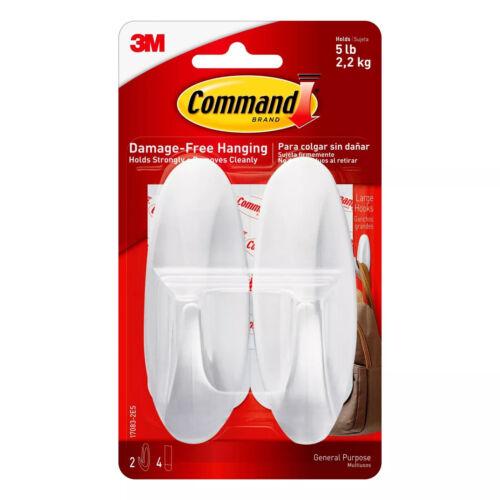 3M Command Damage Free Hanging Hooks--NEW---FAST FREE SHIPPING