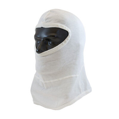Nomex Single Layer Flame Resistant Balaclava Hood With Bib White