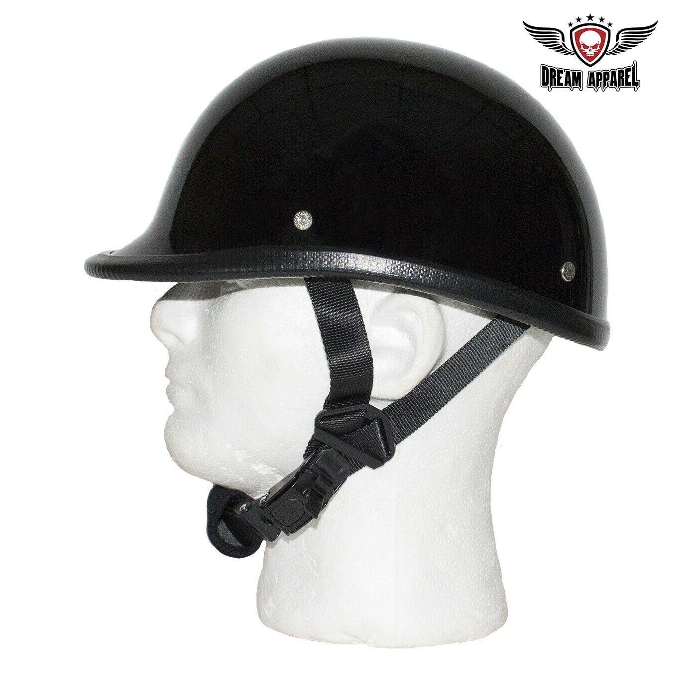 XL ~ Motorcycle Biker Novelty German Polo Helmet Touring Chopper Gloss black