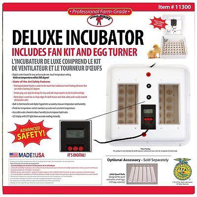 Deluxe Air Egg Incubator Little Giant 11300 w/Egg Turner & Fan Kit