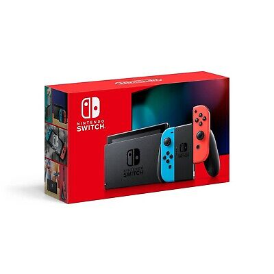 Nintendo Switch New V2 In Hand 32GB Console Neon Blue Red Joy‑Con HADSKABAA