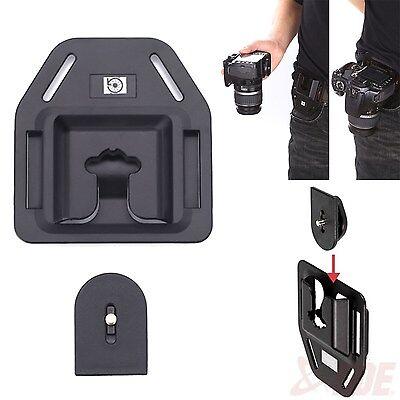 Camera Belt Buckle Button Plastic Fast Loading Waist Mount Hanger Clip DSLR SLR