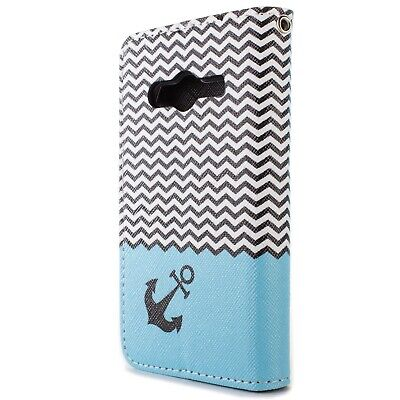 Wallet Case for Samsung Galaxy Ace NXT Card Folio Phone Cover - Chevron Anchor for sale  Shipping to India