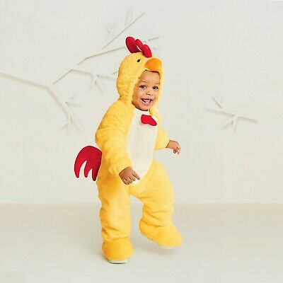 Hyde & Eek Plush Baby Costume Halloween Bunting Chicken Size 0/6 Months