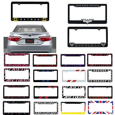 New Car Truck Suv Van Universal Fit License Plate Frame Made in U.S.A Car Truck Suv License Plate
