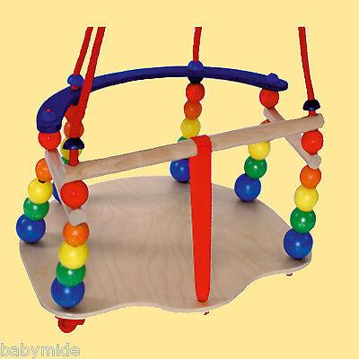 Babyschaukel de luxe Schaukel aus Holz Gitterschaukel Baby Kleinkind Baby Schuke